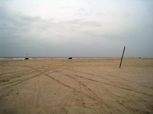 Stranden er der endnu..