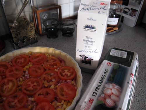 Forberedelse af bacon tærte