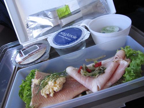 Middagsmad på flyveren