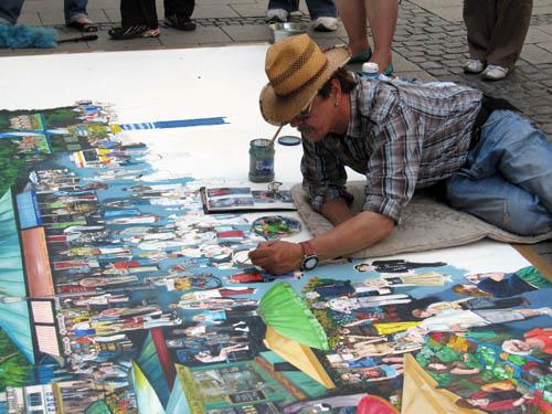 Maler i gågaden
