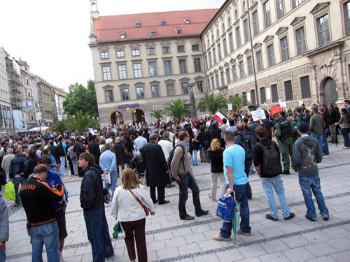 Demonstration i gågaden