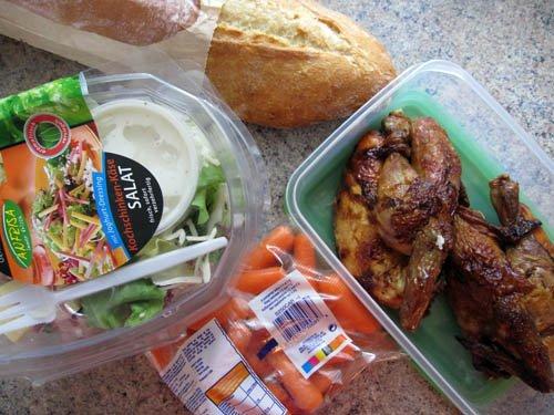 Kylling med salat