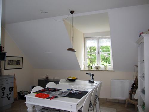 køkken lampen er sat op!