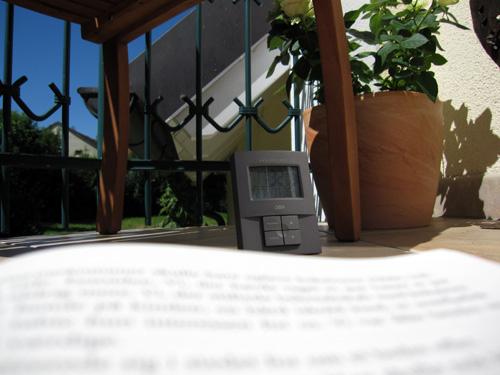 Lidt læsning på altanen