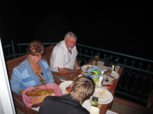 Natmad på altanen