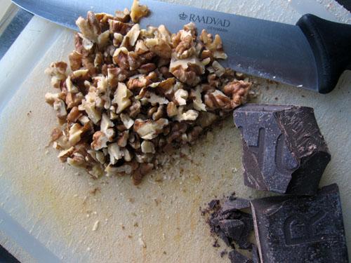 Valnødder og chokolade