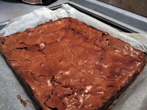 Chokoladebrownie med rom