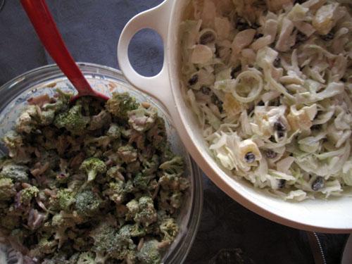 Salater til stegen..