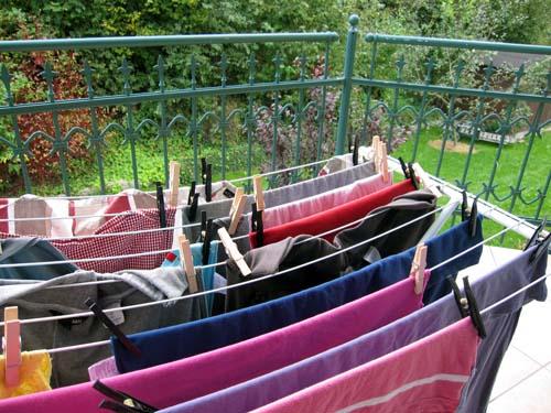 Vasketøj på altanen...