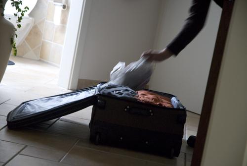 Mandens forsinkede kuffert...