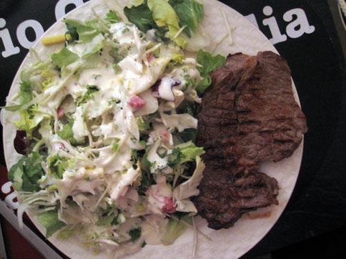 Salat og Steak...