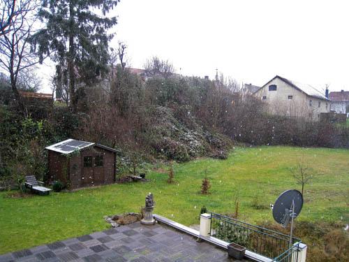 Snevejr i Wolfersdorf...