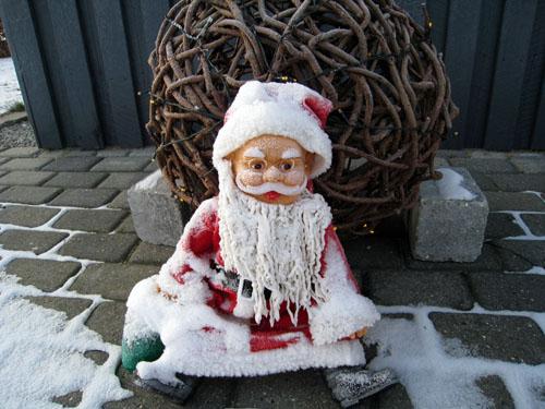 En frossen julemand...