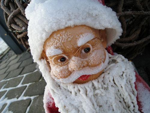Frost i skægget...