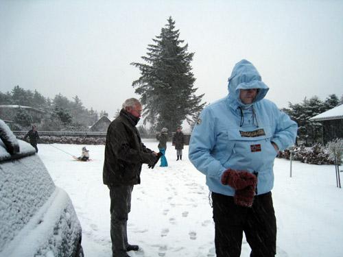Snevejr i Blokhus...