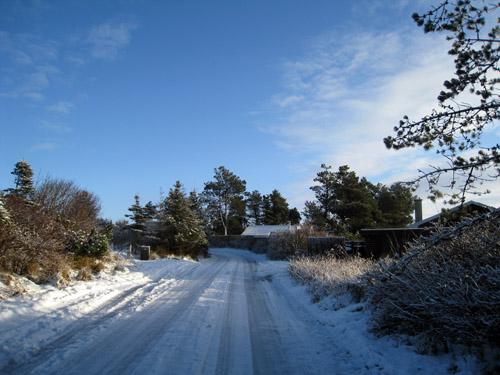 Blå himmel i Blokhus....