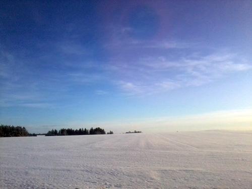Sne på markerne...