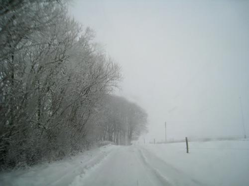Sne i Svenstrup....