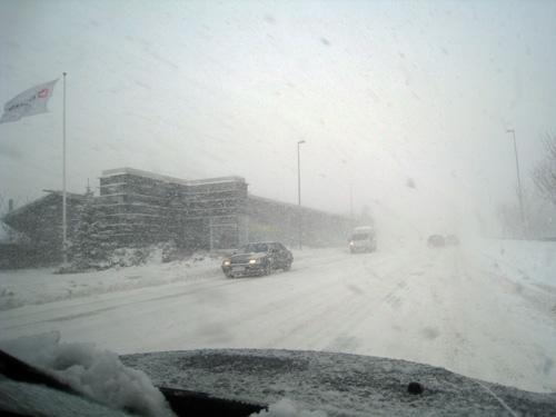 Sne i Skalborg...