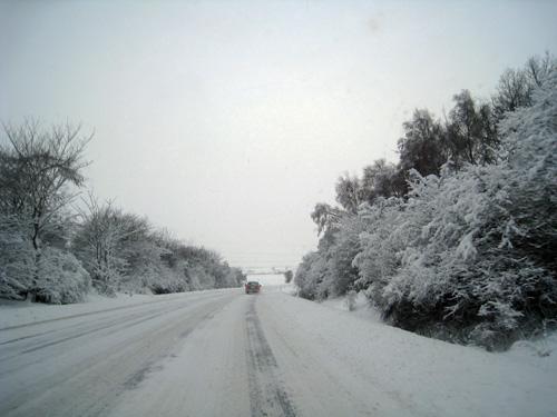 Sne på Høvejen...