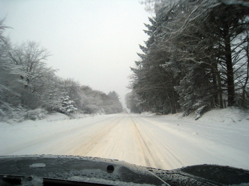 Sne i Blokhus...