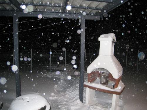Sne på terrassen...