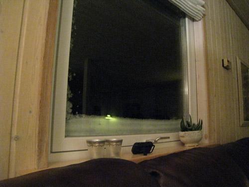 Sne på vinduerne...