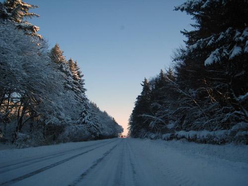 Flot vintervejr...