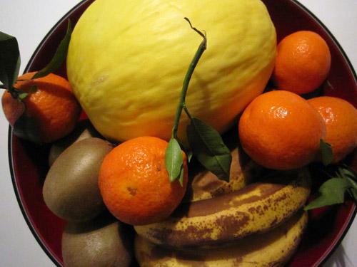 Frisk frugt...