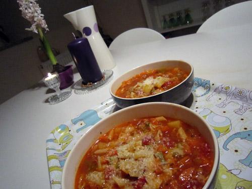 Minestrone suppe....
