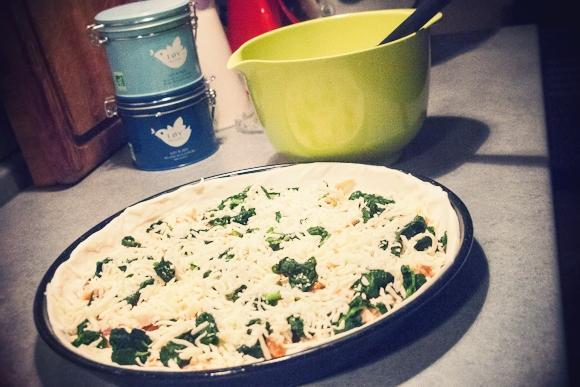 Laks og spinat...