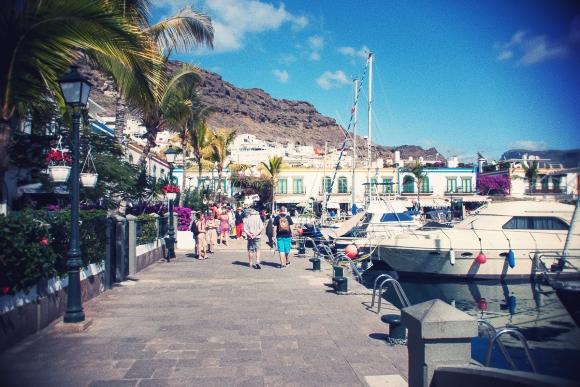 Marked i Puerto de Mogan...