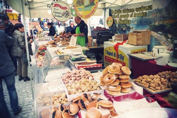 Italiensk marked og födselsdagsgave...