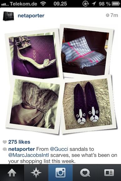 Instagram billede på Net-a-Porter...