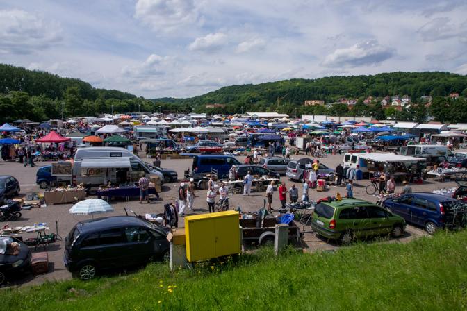 Det årlige loppemarked i Regensburg...
