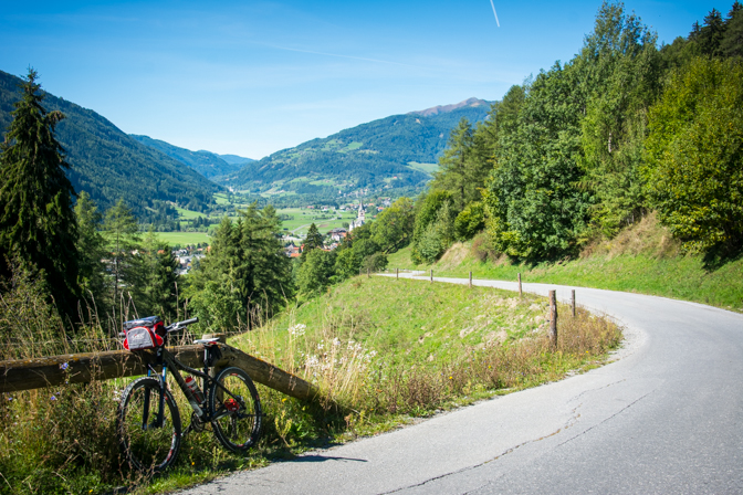 På cykel opad Kammersberg...