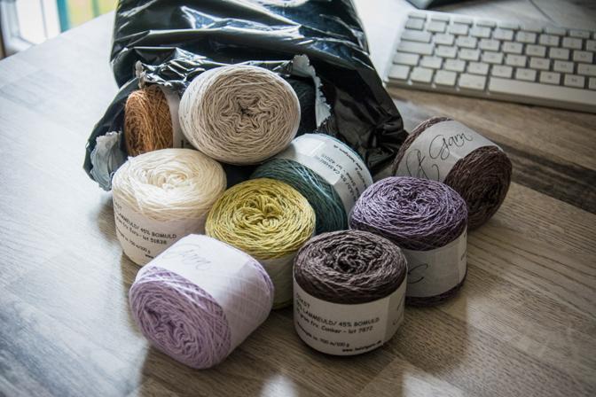 Skønne farver til tørklæder...