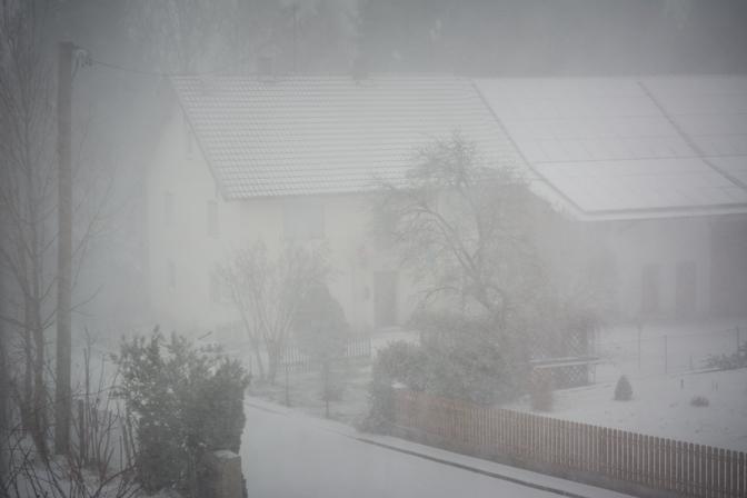 Sæsonens første snestorm...