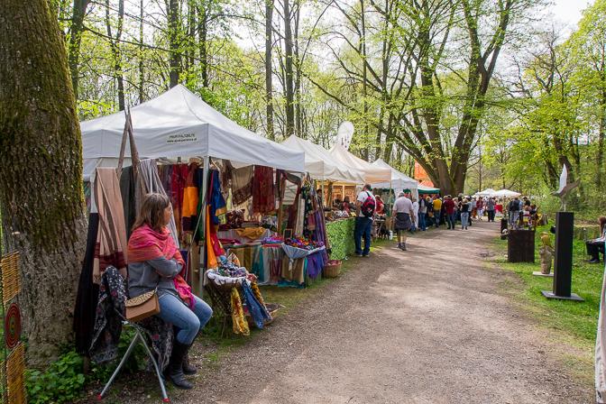 Havemarked ved Schleißheim slot...