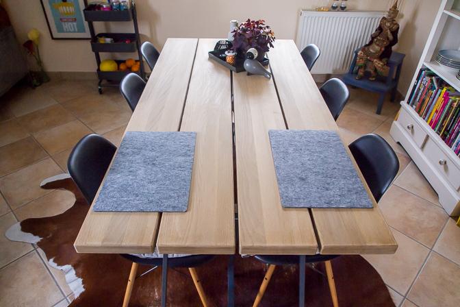 Det nye gør-det-selv spisebord....