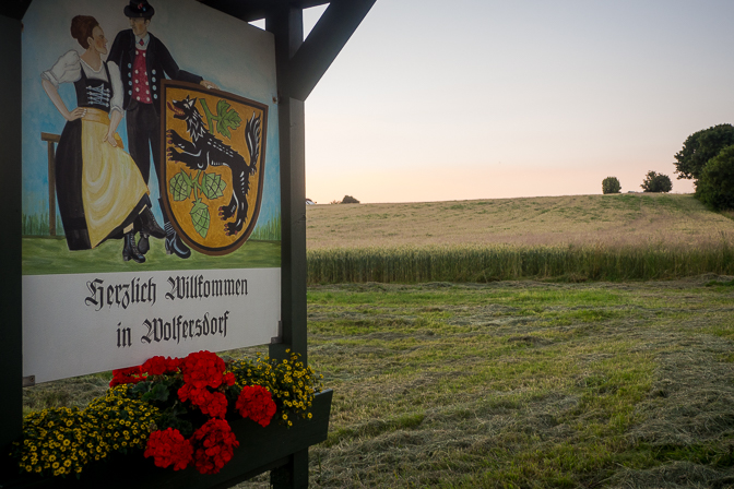 Aftenstemning i Wolfersdorf...